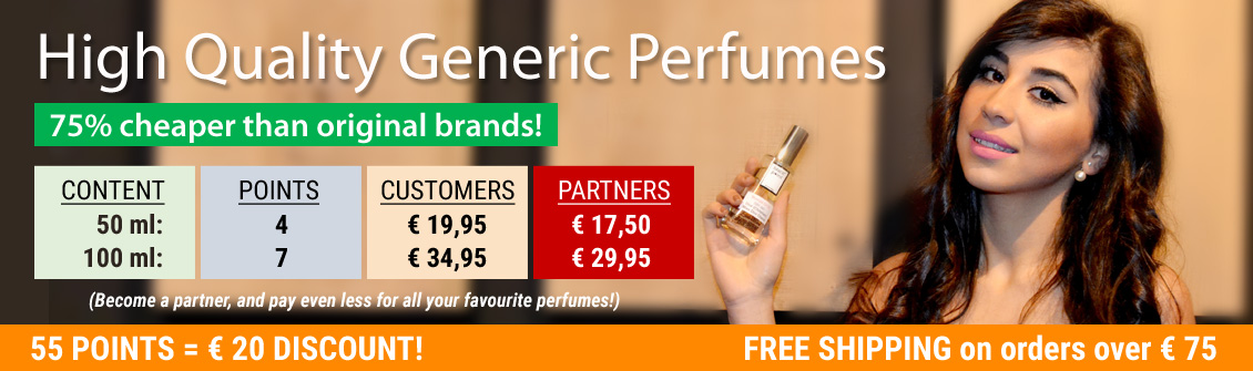 All popular perfumes at a fraction of the price!